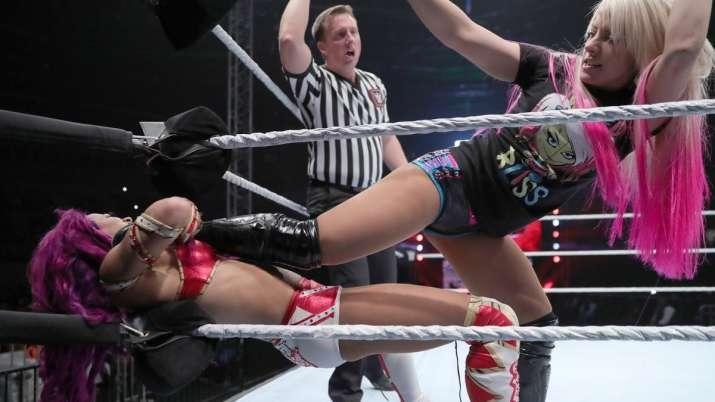India Tv - Alexa Bliss vs Sasha Banks