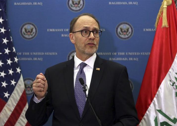 FILE - US Ambassador to Iraq Douglas Silliman