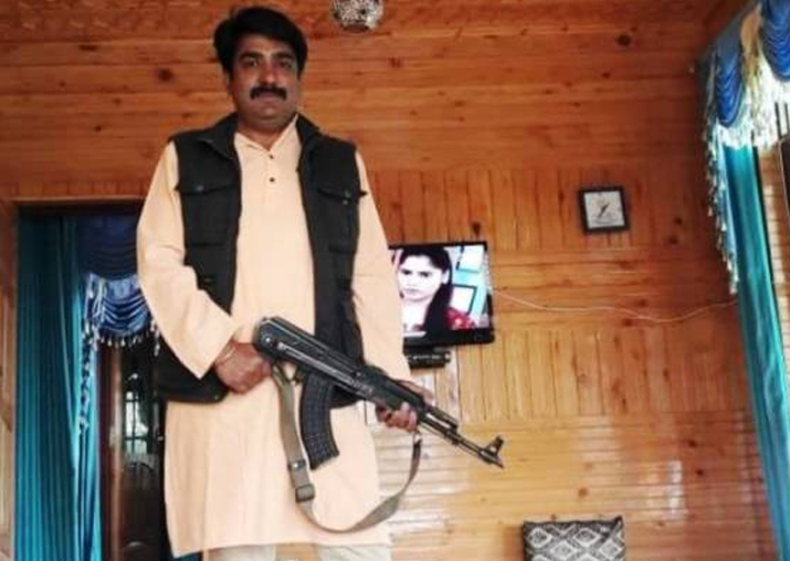 BJP embarrassed as photograph of its 'J&K leader'