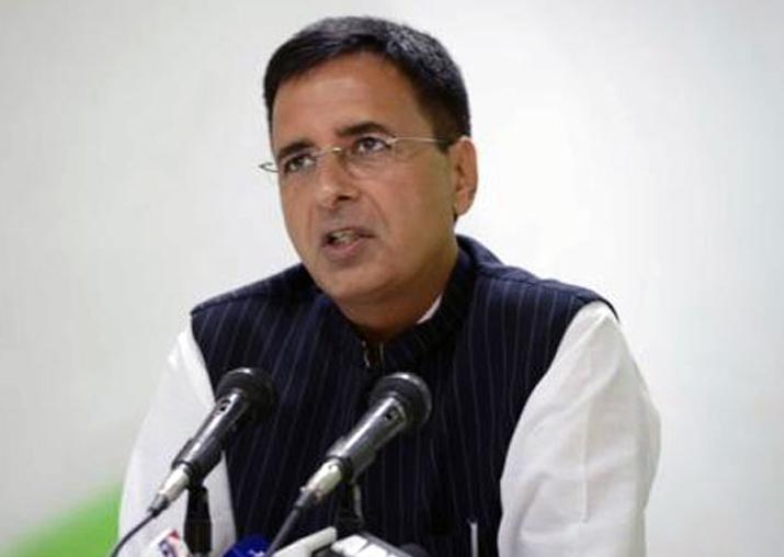 File pic - Congress spokesperson Randeep Singh Surjewala