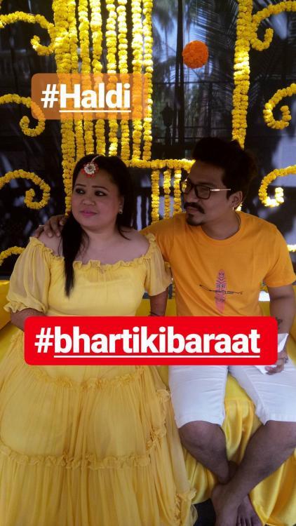 India Tv - Bharti Singh and Haarsh Limbachiyaa's haldi ceremony