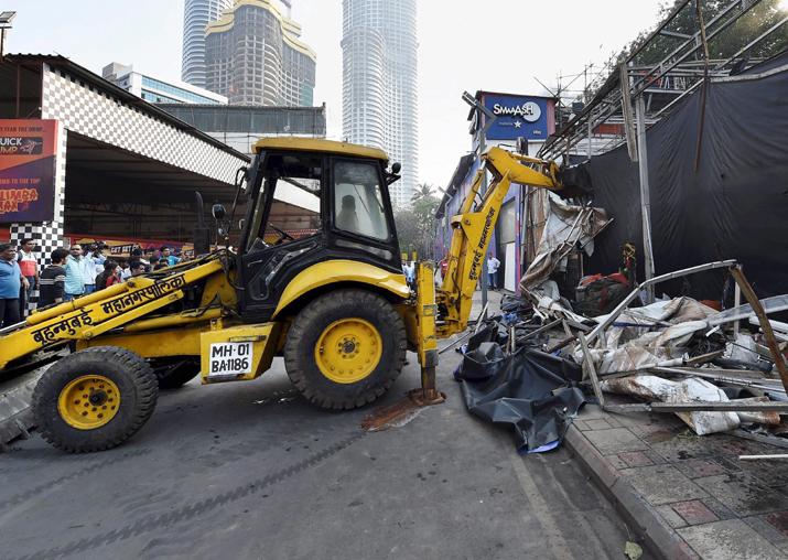 Mumbai Kamala Mills fire: 100 illegal structures demolished