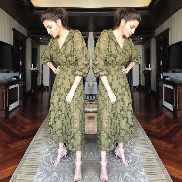 India Tv - Anushka Sharma goes the Camo way!