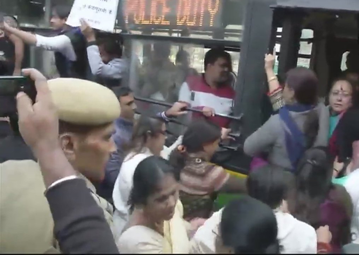 Congress workers detained for protesting outside ECI office