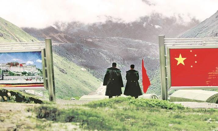 Indian and Chinese troops were locked in a face-off earlier