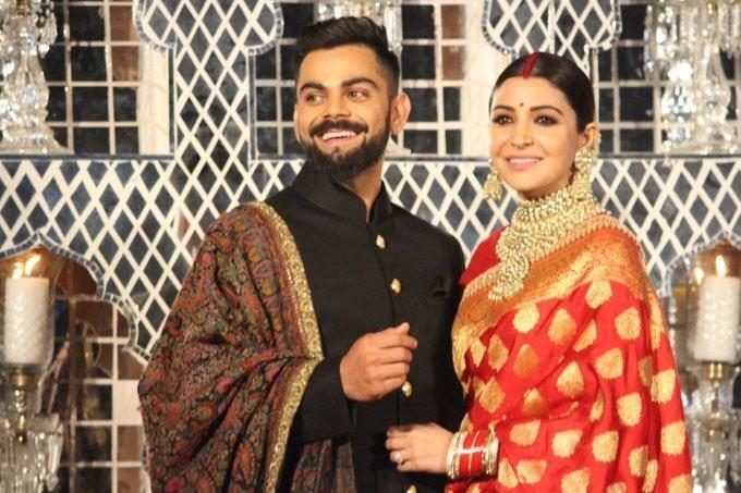 Omg Virat Kohli S Wedding Reception Attire Had Buttons Made