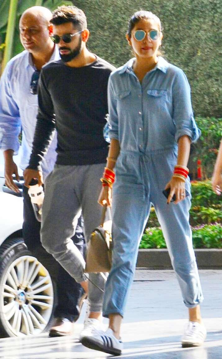 India Tv - Virat Kohli, Anushka Sharma entering the venue
