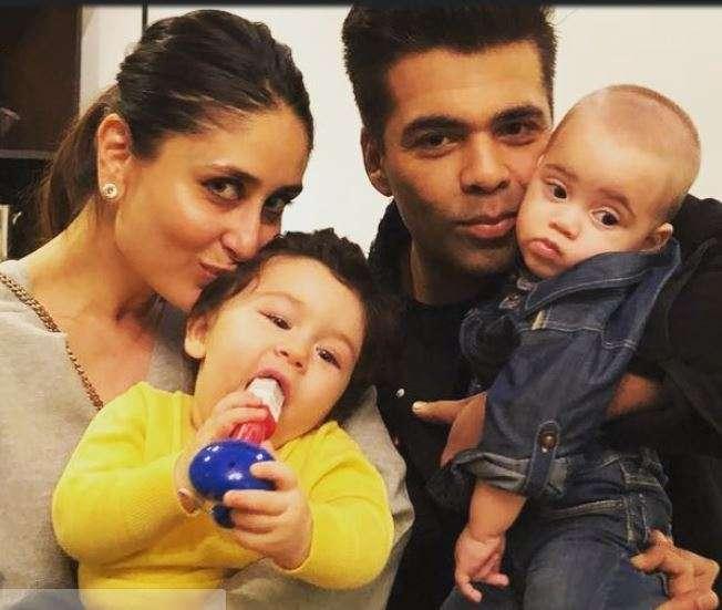 India Tv - Kareena and Karan at Adira's birthday party