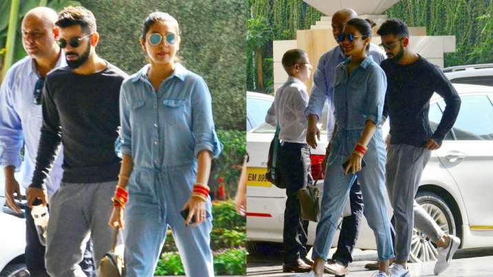 Virat Kohli, Anushka Sharma papped outside their hotel