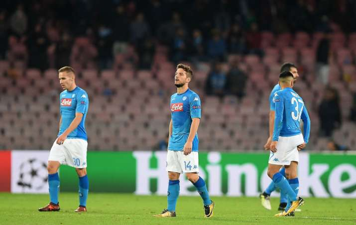 India Tv - Napoli players look dejected after a loss.