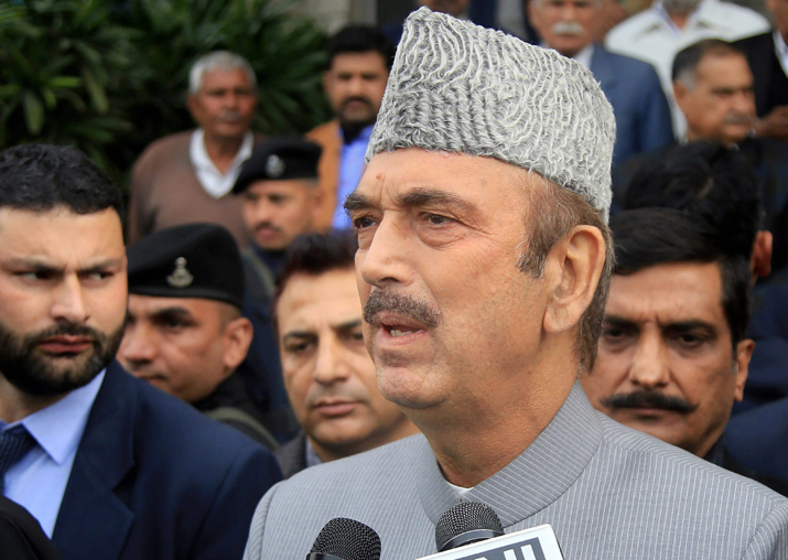 Leader of the Opposition in the Rajya Sabha Ghulam Nabi Azad