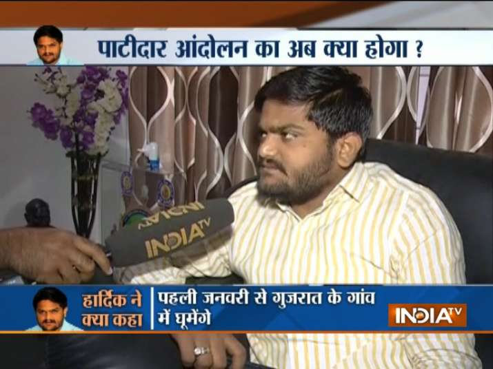 Hardik Patel on India TV
