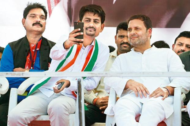 India Tv - OBC leader Alpesh Thakor with Congress President Rahul Gandhi