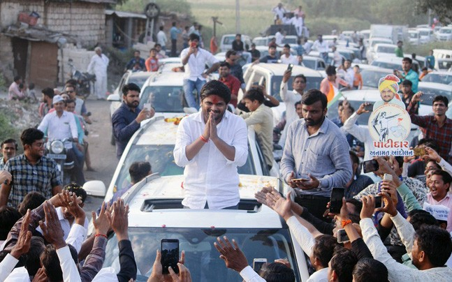 India Tv - Hardik Patel during an election rally in Gujarat