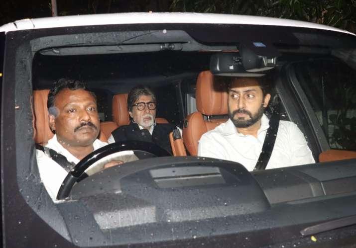 India Tv - Abhishek and Amitabh Bachchan