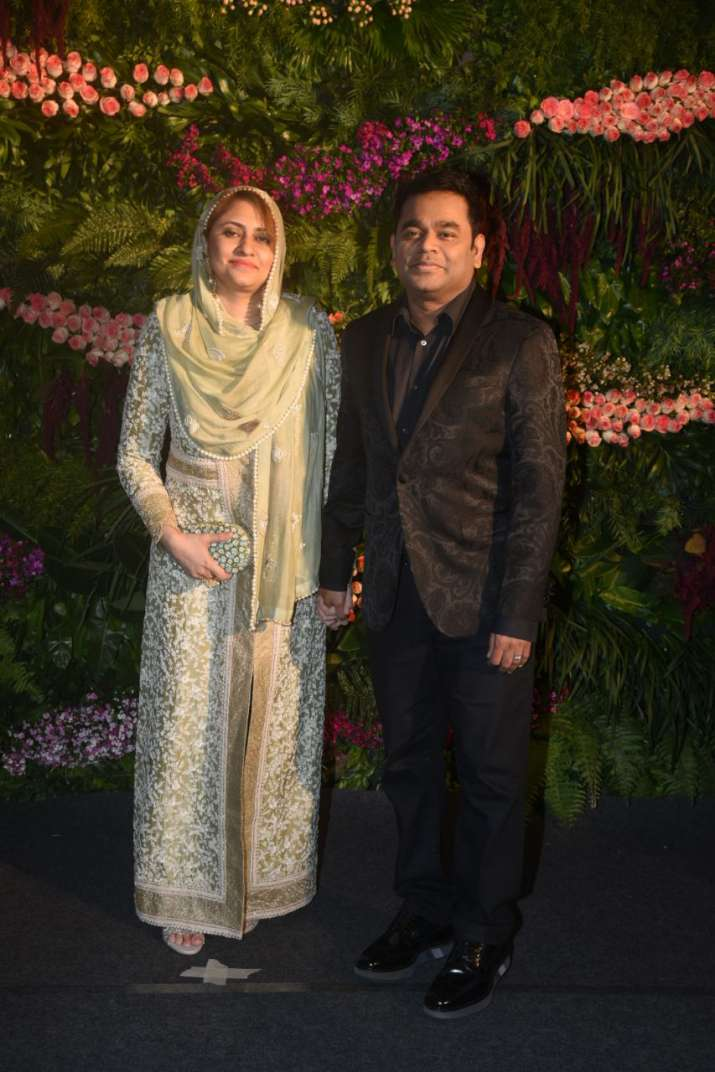 India Tv - A R Rahman with his wife