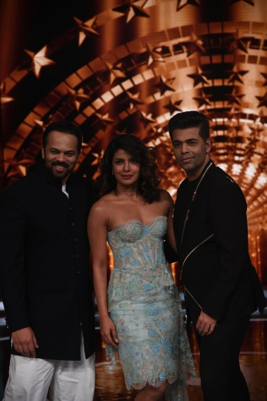 India Tv - Rohit Shetty, Priyanka Chopra and Karan Johar