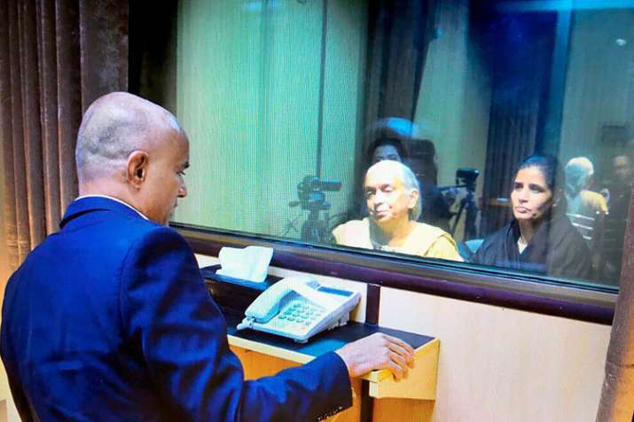 Former Indian Navy officer Kulbhushan Jadhav's wife and
