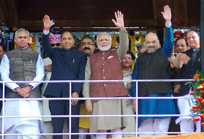 PM Narendra Modi with Himachal Pradesh Chief Minister