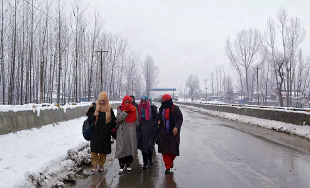 Chillai Kalan is known for sub-zero temperatures, frozen