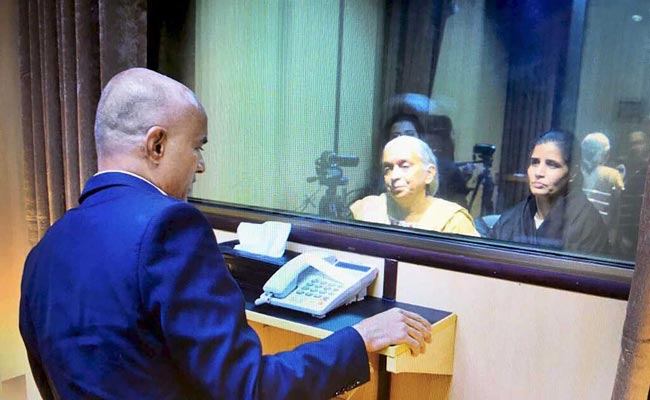 Kulbhushan Jadhav, during his meeting with wife and mother