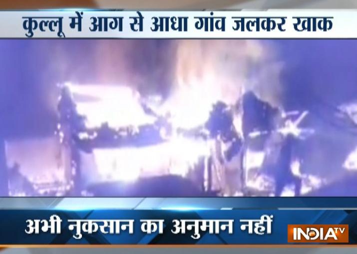 Devastating fire destroys half of village in Himachal