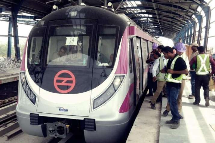 Delhi Metro S Magenta Line Connecting Kalkaji To Noida