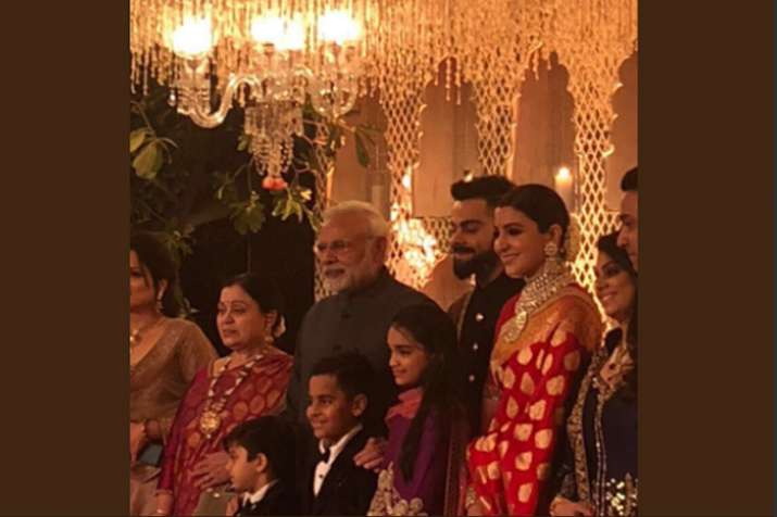 India Tv - PM Modi attends Virat-Anushka wedding reception