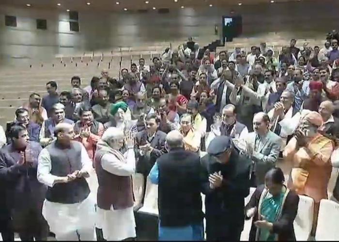 PM Narendra Modi at BJP parliamentary meet.