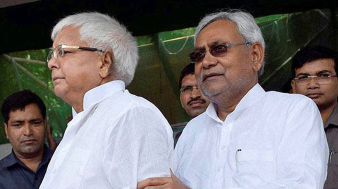 File photo of RJD chief Lalu Yadav and Bihar Chief Minister