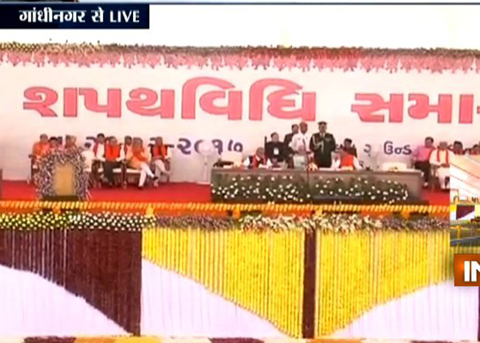 Gujarat Chief Minister Vijay Rupani took oath for the