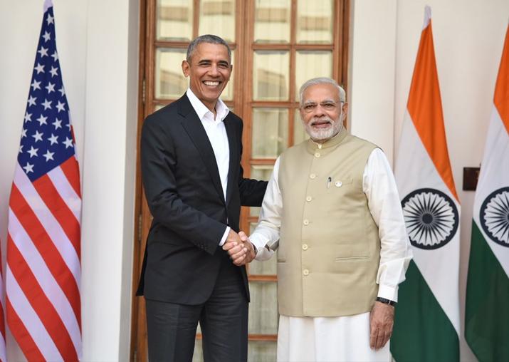 Former US President Barack Obama meets PM Narendra Modi in