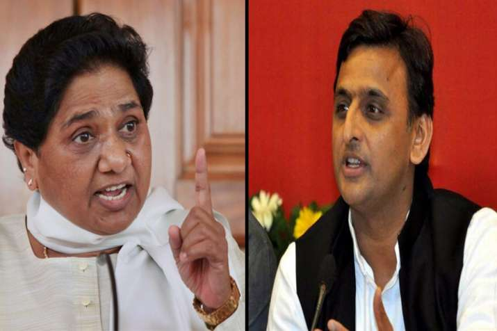 BSP supremo Mayawati and Samajwadi party chief Akhilesh