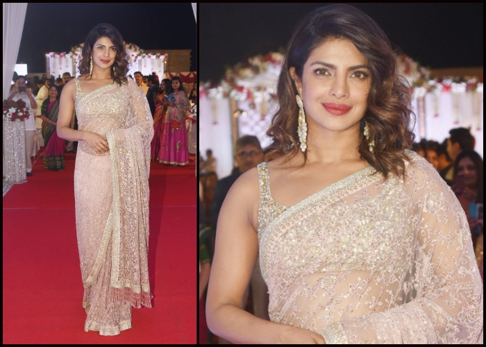 Priyanka Chopra slays in a Sabyasachi saree at a wedding ...