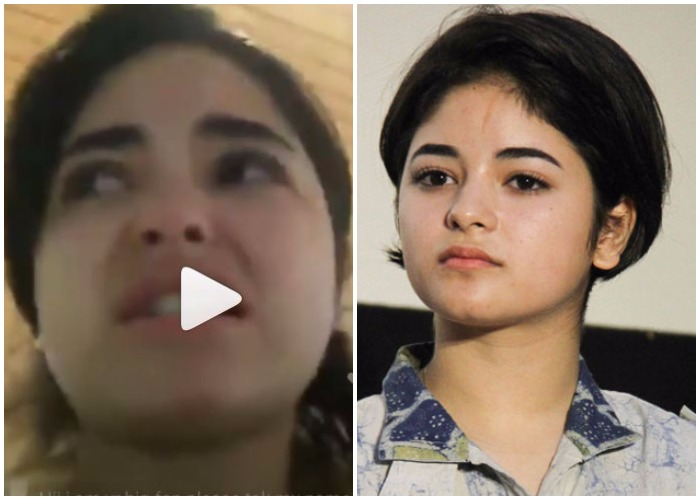 Dangal actress Zaira Wasim molested on a flight, breaks