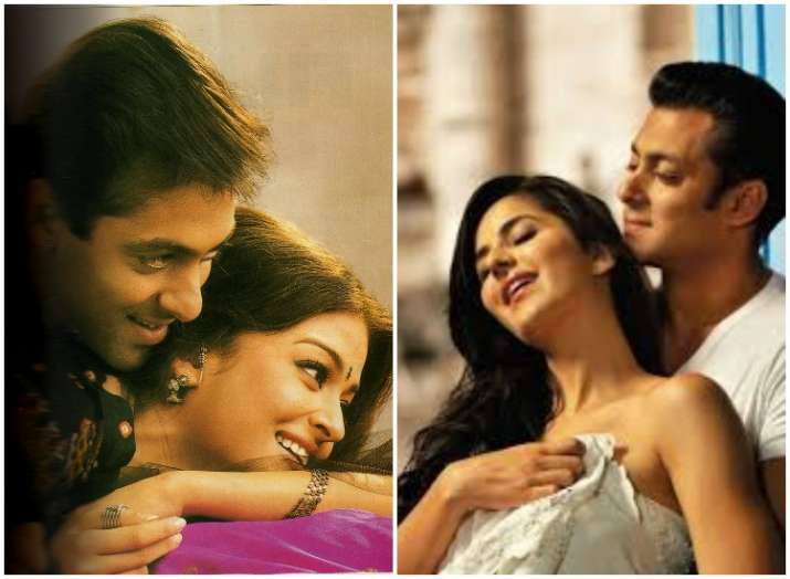 Left- Salman and Aishwarya, Right- Salman and Katrina