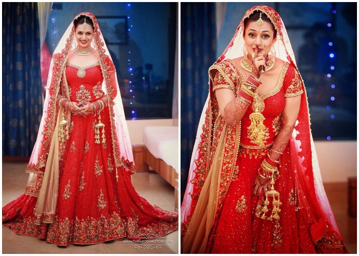 India Tv - Divyanka Tripathi Dahiya as a bride