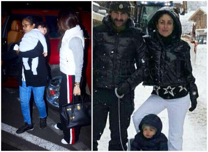 Taimur enjoys first snowfall in Switzerland