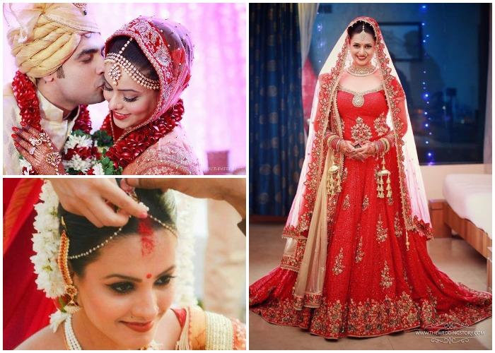 TV actresses bridal look