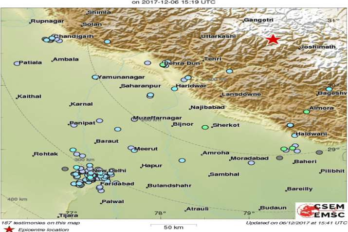 5.5 magnitude earthquake jolts Uttarakhand, strong tremors