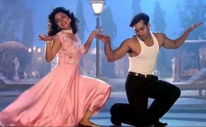 India Tv - Salman and Madhuri in a still from Hum Aapke Hain Koun..
