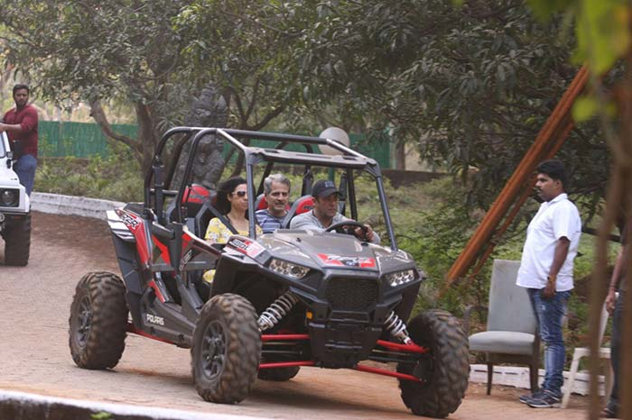 India Tv - Salman Khan at his Panvel farmhouse