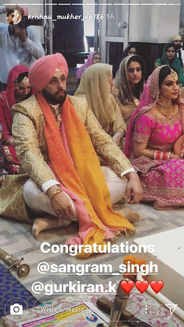 India Tv - Sangram Singh exchanging wedding vows with Gurkiran Kaur