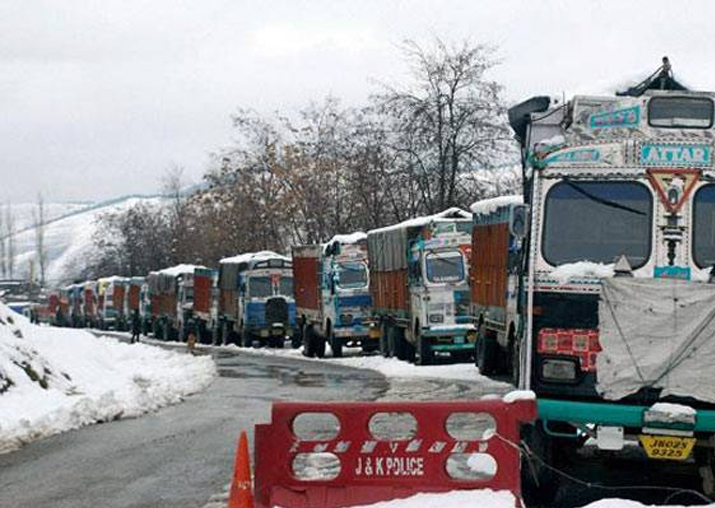 File pic - Jammu-Srinagar national highway closed after