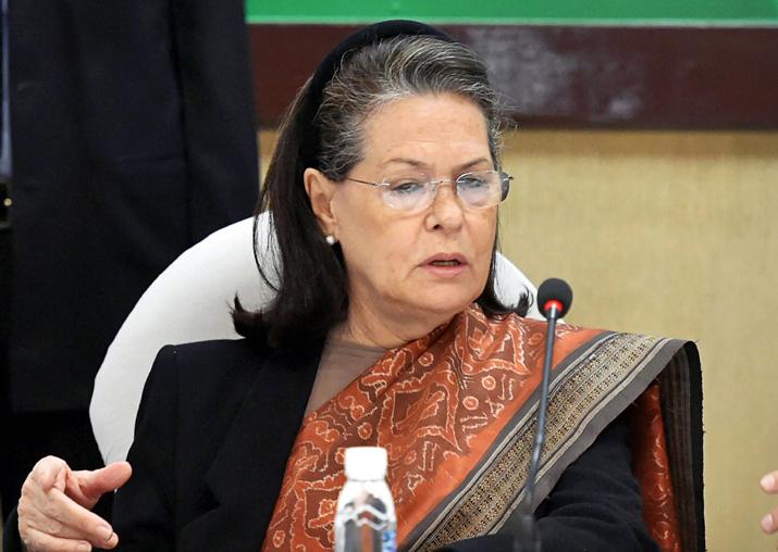 File pic of former Congress president Sonia Gandhi