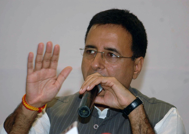 File pic - Congress spokesperson Randeep Surjewala