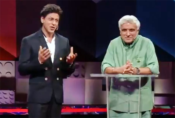 Shah Rukh Khan with Javed Akhtar