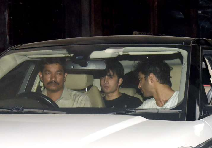 India Tv - Sushant SIngh Rajput arriving at Nupur Sanon's birthday party