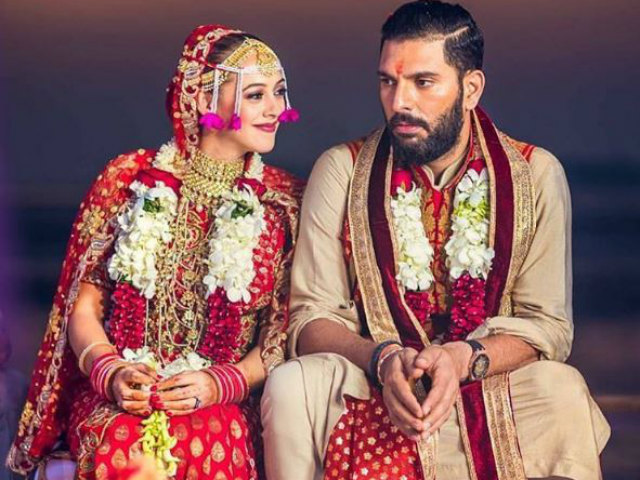Image result for anniversary yuvraj and hazel