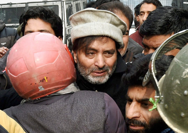 Yasin Malik and other members of separatist groups in